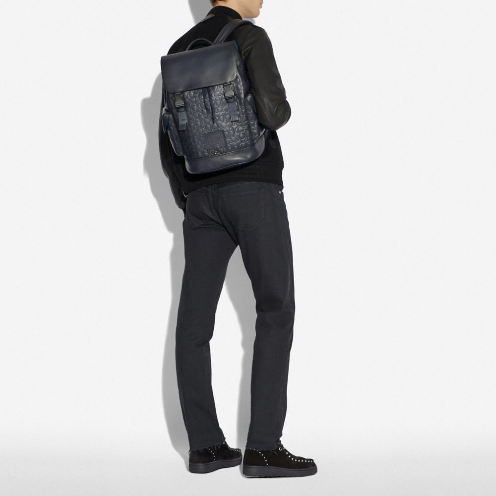 Coach Rivington Backpack in Signature Leather Alternate View 3