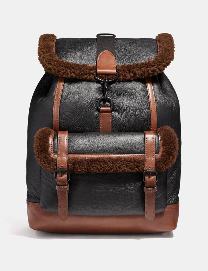 Coach Bleecker Backpack Saddle/Black Copper Finish VIP SALE Men's Sale Bags