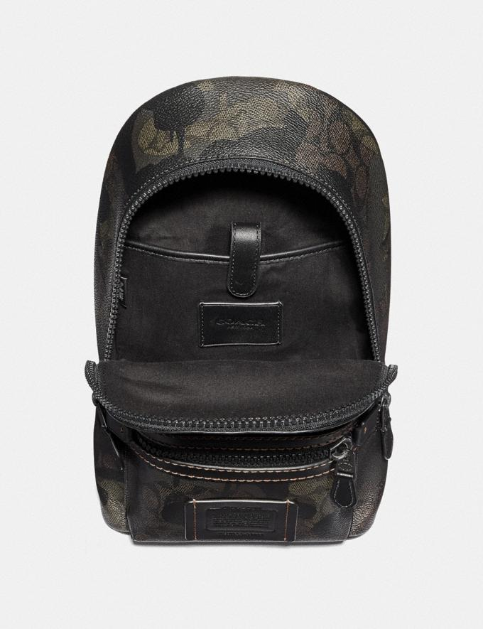 Coach Academy Pack in Signature Wild Beast Print Green Wild Beast Signature/Black Copper Men Bags Backpacks Alternate View 1