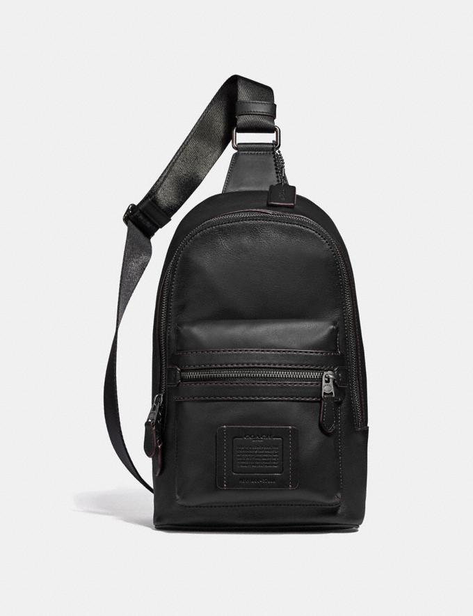 Coach Academy Pack Black/Black Copper Finish Men Bags Backpacks
