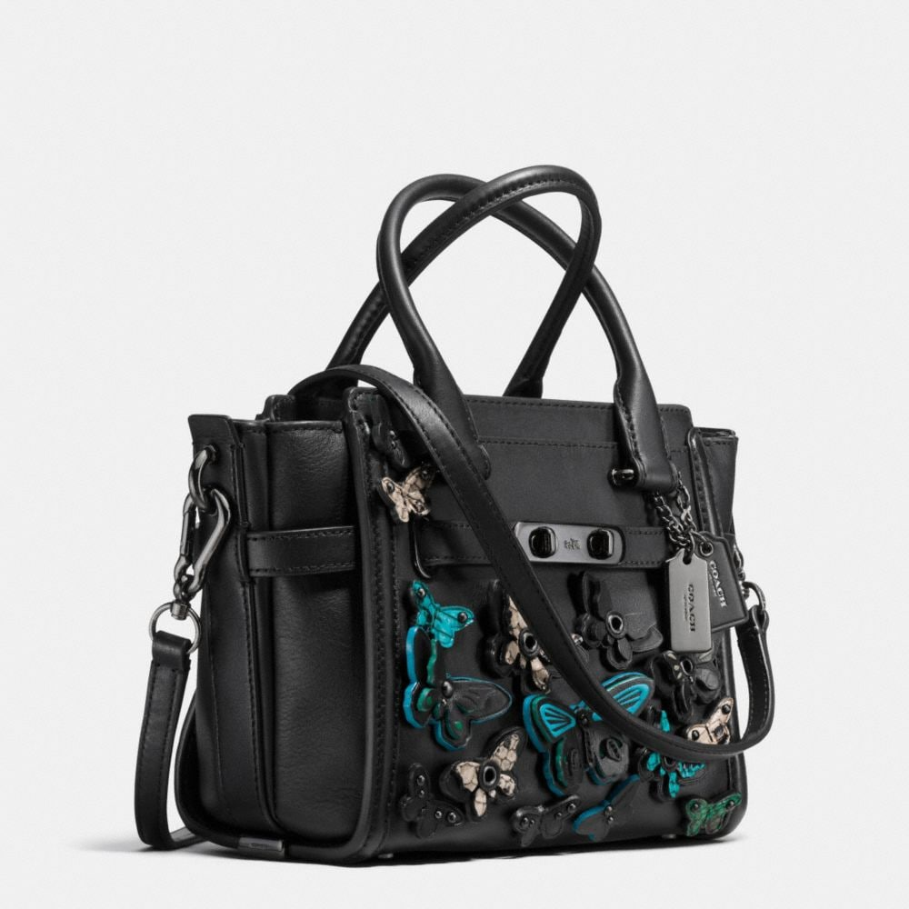 Butterfly Applique Coach Swagger 21 in Glovetanned Leather - Autres affichages A2