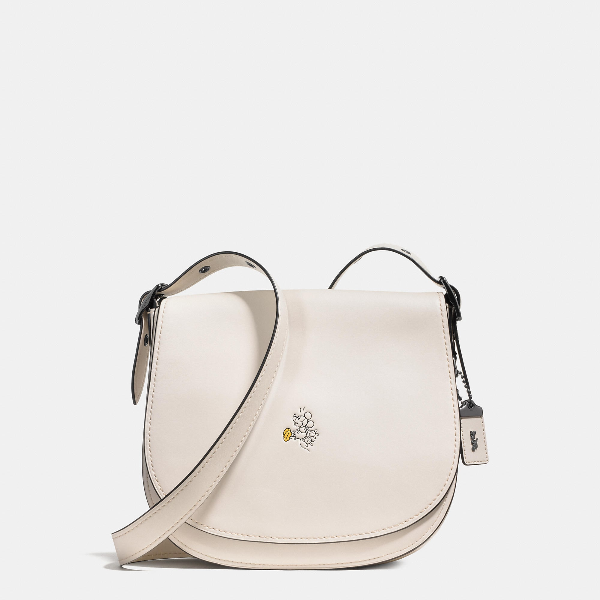 Coach Mickey Saddle Bag In Glovetanned Leather - Disney