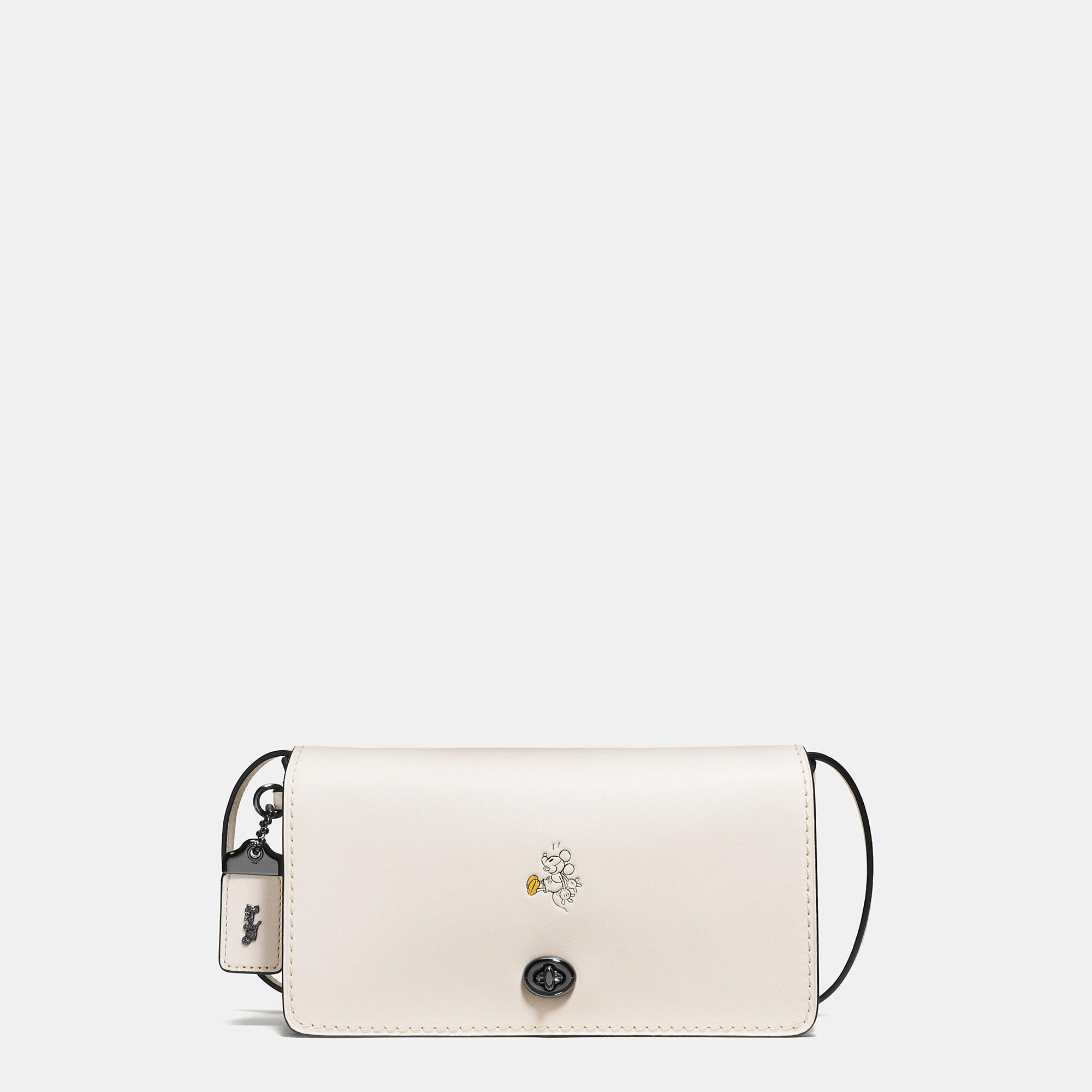 Coach Mickey Dinky Crossbody In Glovetanned Leather - Disney