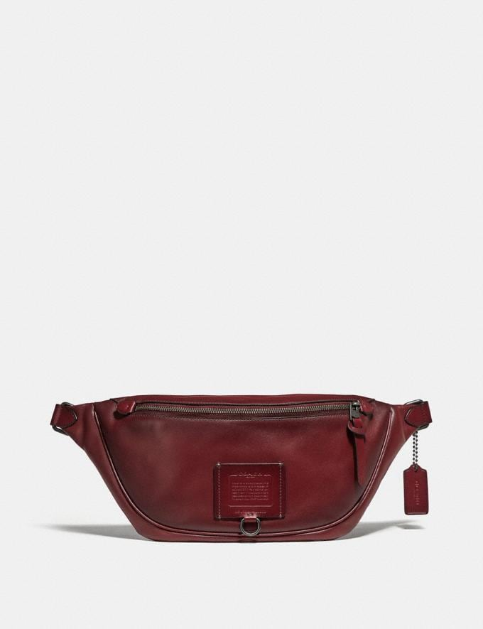 Coach Rivington Belt Bag Red Currant/Black Copper Finish Women Bags Belt Bags