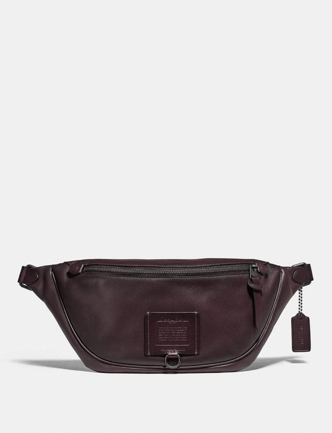 Coach Rivington Belt Bag Oxblood/Black Copper Women Handbags Belt Bags