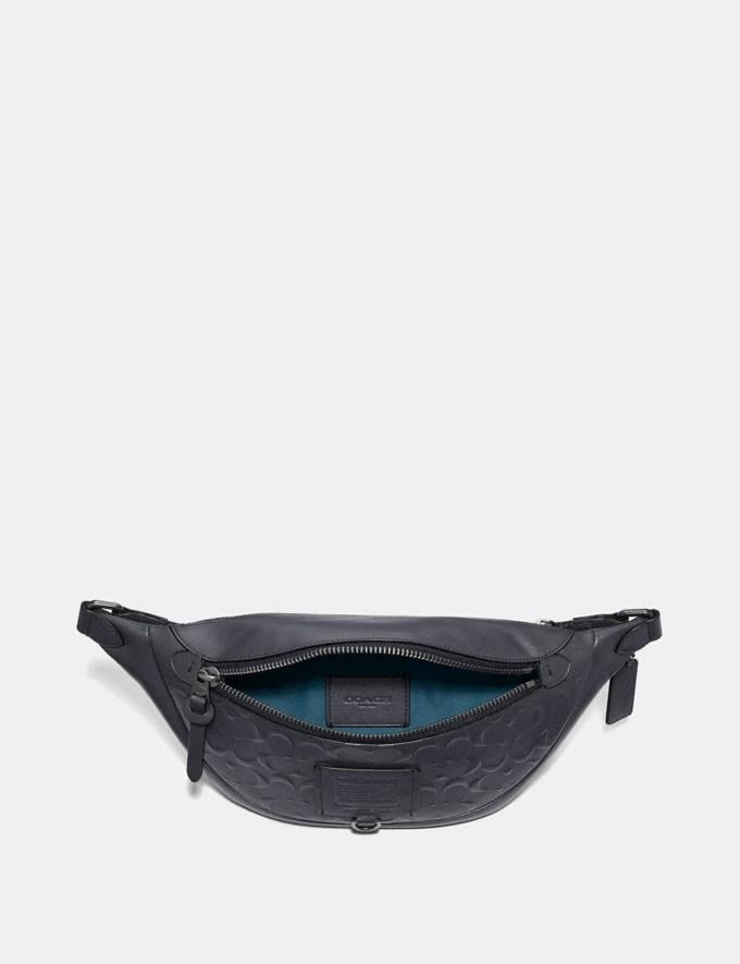 Coach Rivington Belt Bag in Signature Leather Midnight Navy/Black Copper Finish New Men's New Arrivals Alternate View 2