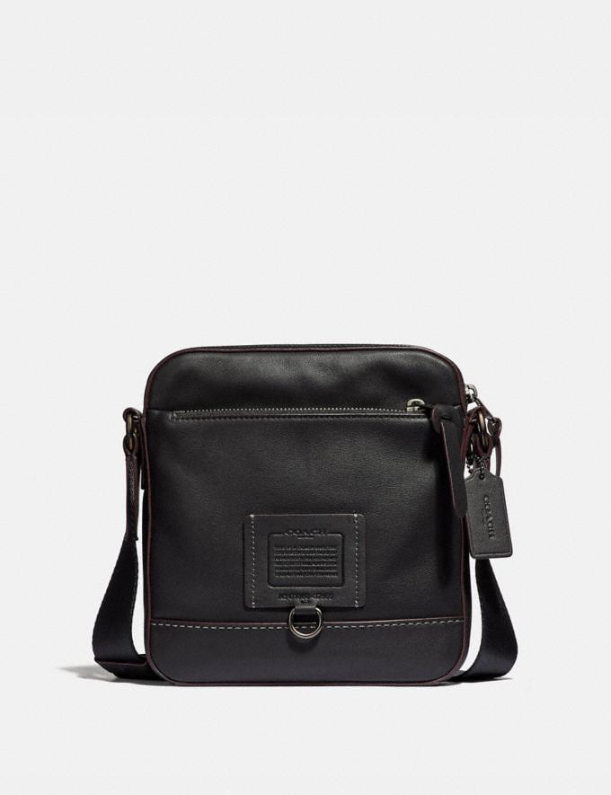 Coach Rivington Crossbody Black/Black Copper Finish Men Bags Messenger Bags
