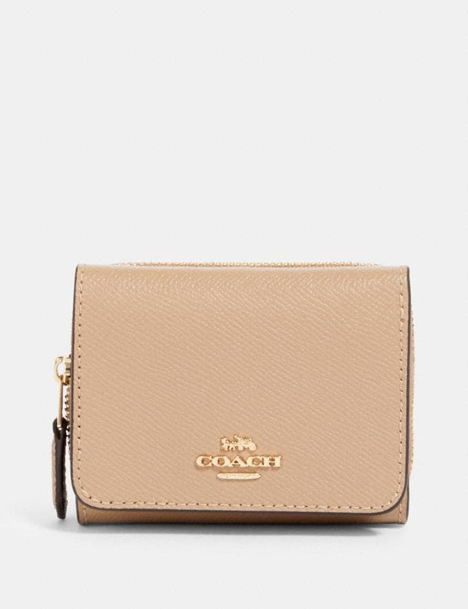 Coach Small Trifold Wallet Im/Taupe Accessories Wallets