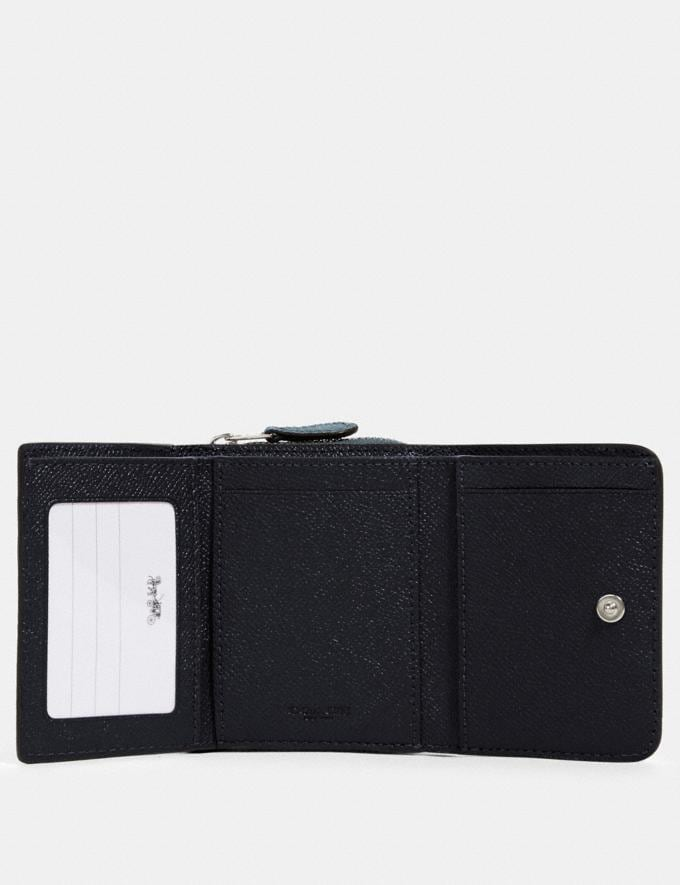 Coach Small Trifold Wallet Sv/Slate Clearance Alternate View 1