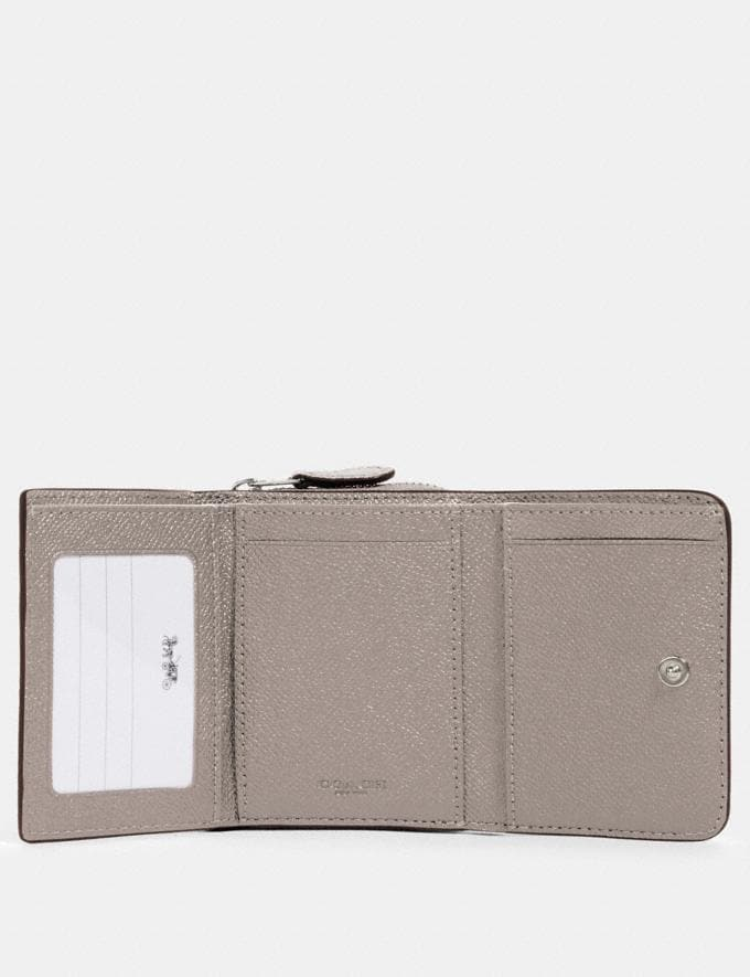 Coach Small Trifold Wallet Sv/Grey Birch DEFAULT_CATEGORY Alternate View 1
