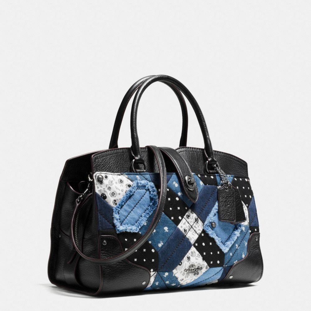 Mercer Satchel 30 in Canyon Quilt Denim - Autres affichages A2