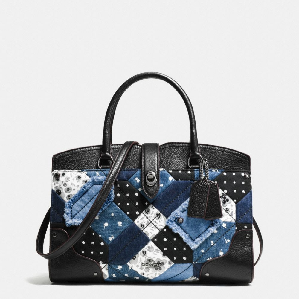 MERCER SATCHEL 30 IN CANYON QUILT DENIM