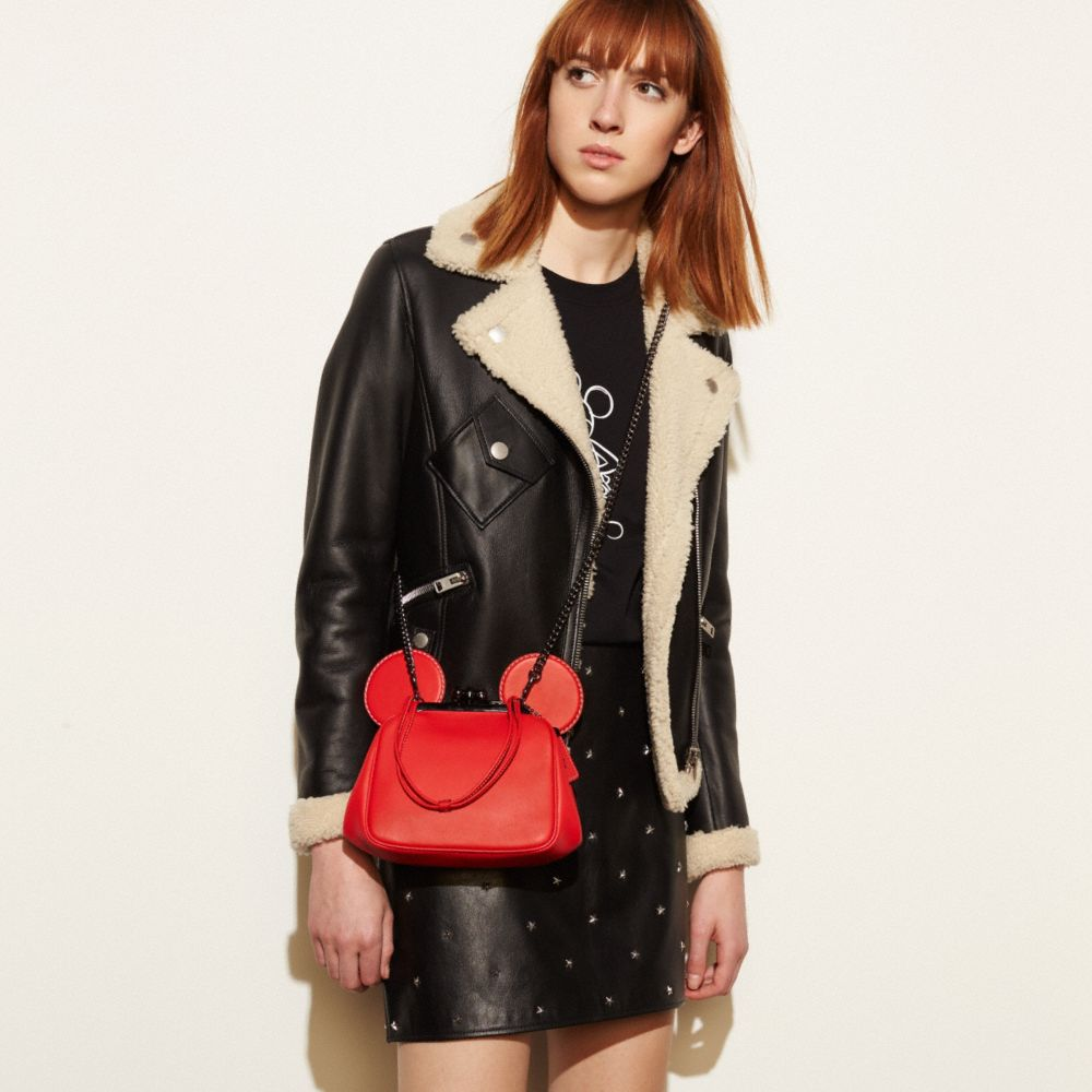 Coach Mickey Kisslock Bag in Glovetanned Leather Alternate View 4