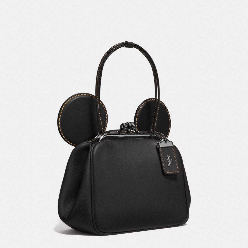 Coach Mickey Kisslock Bag in Glovetanned Leather Alternate View 2