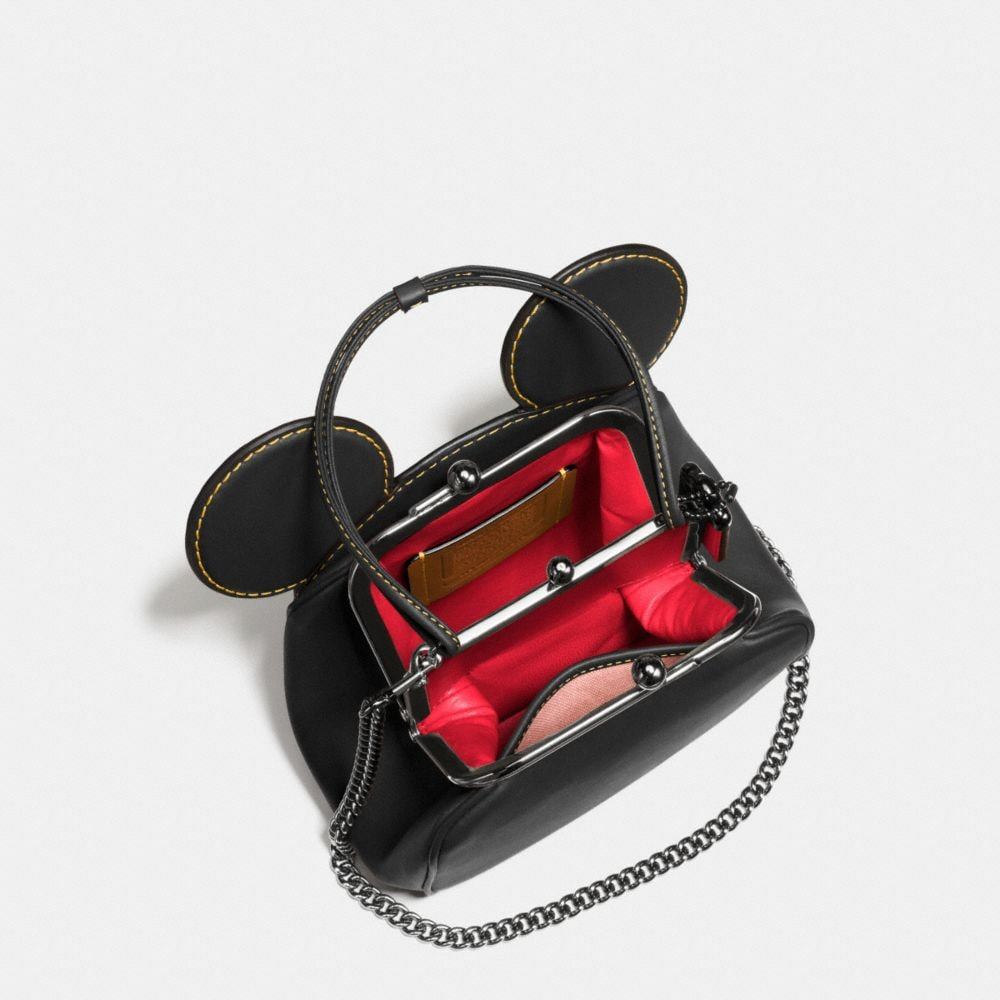 Coach Mickey Kisslock Bag in Glovetanned Leather Alternate View 3