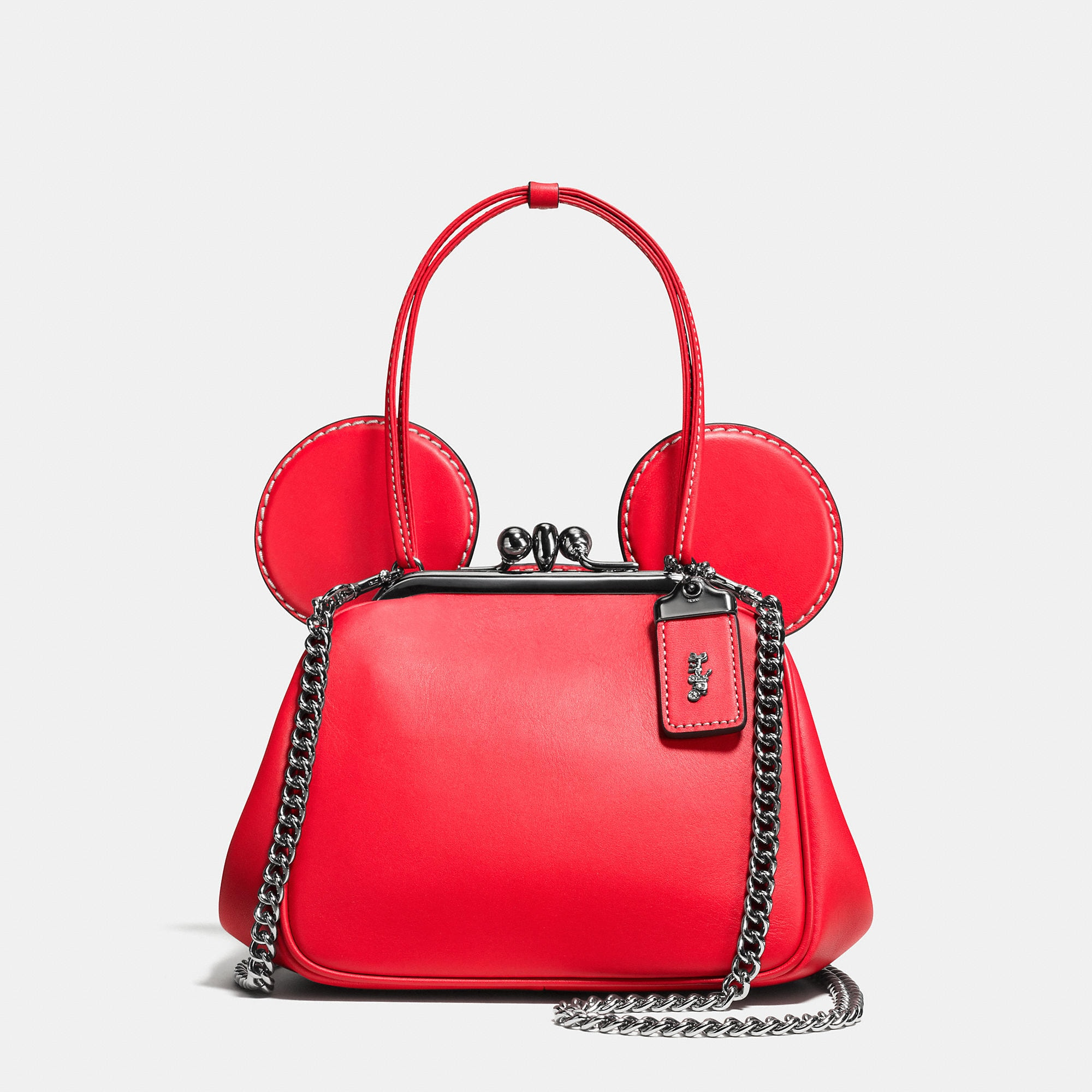 Coach Mickey Kisslock Bag In Glovetanned Leather - Disney