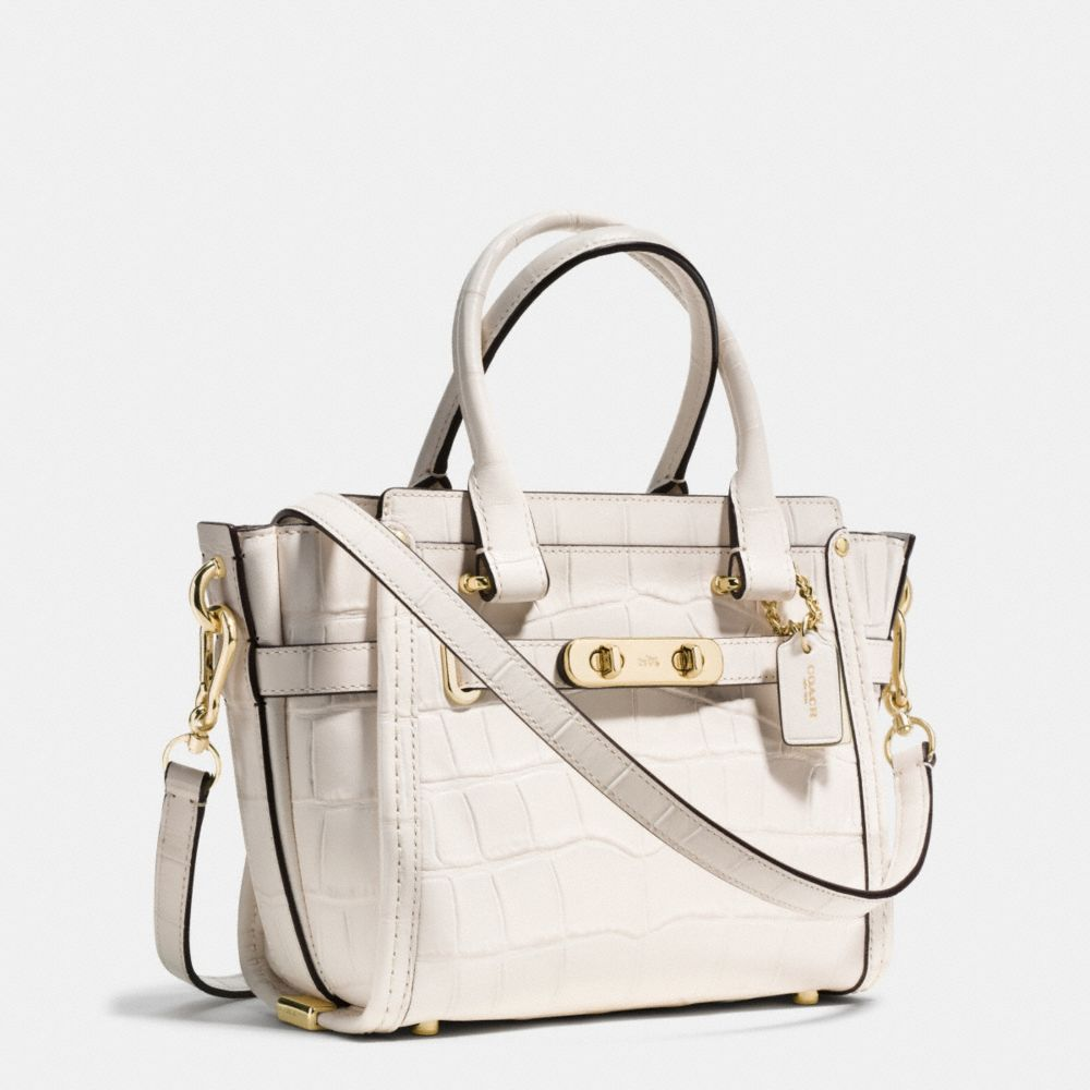 Coach Swagger 21 in Croc Embossed Leather - Alternate View A2