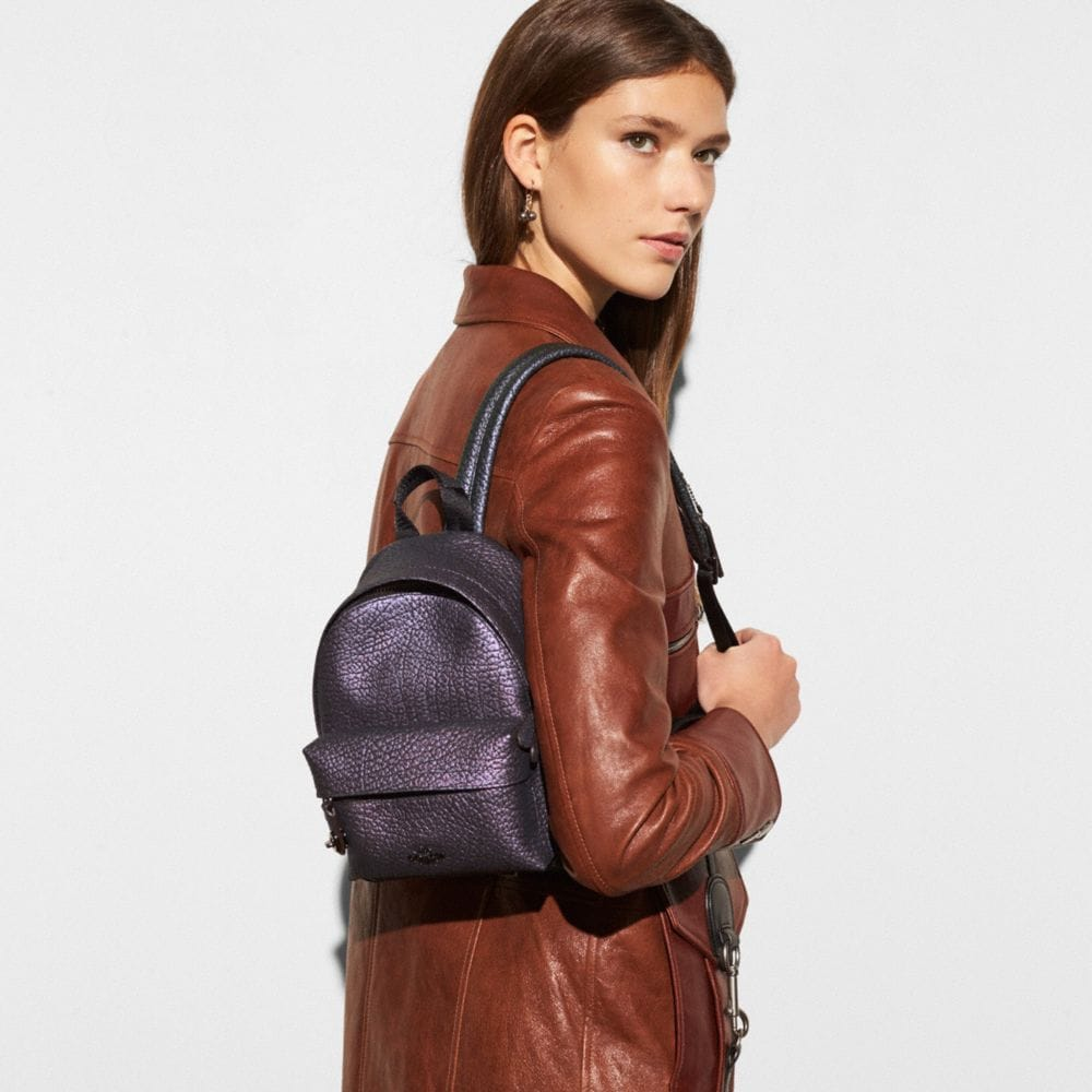 Coach Mini Campus Backpack in Hologram Leather Alternate View 3