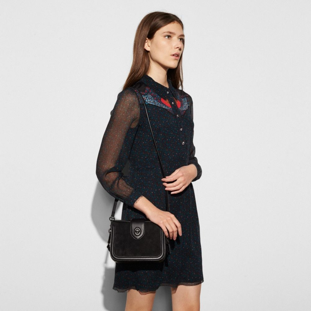 Coach Page Crossbody in Mixed Leather Alternate View 2
