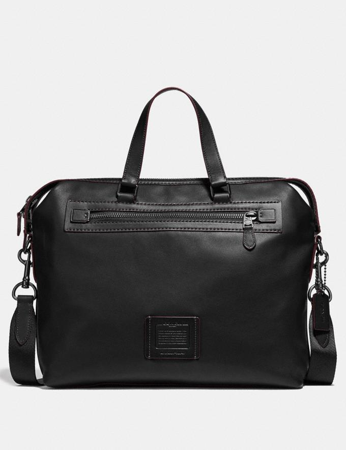 Coach Academy Holdall Black/Black Copper Finish Men Bags Briefcases