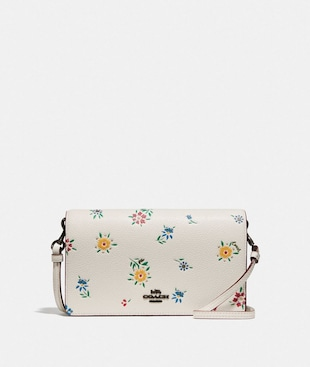 HAYDEN FOLDOVER CROSSBODY WITH WILDFLOWER PRINT