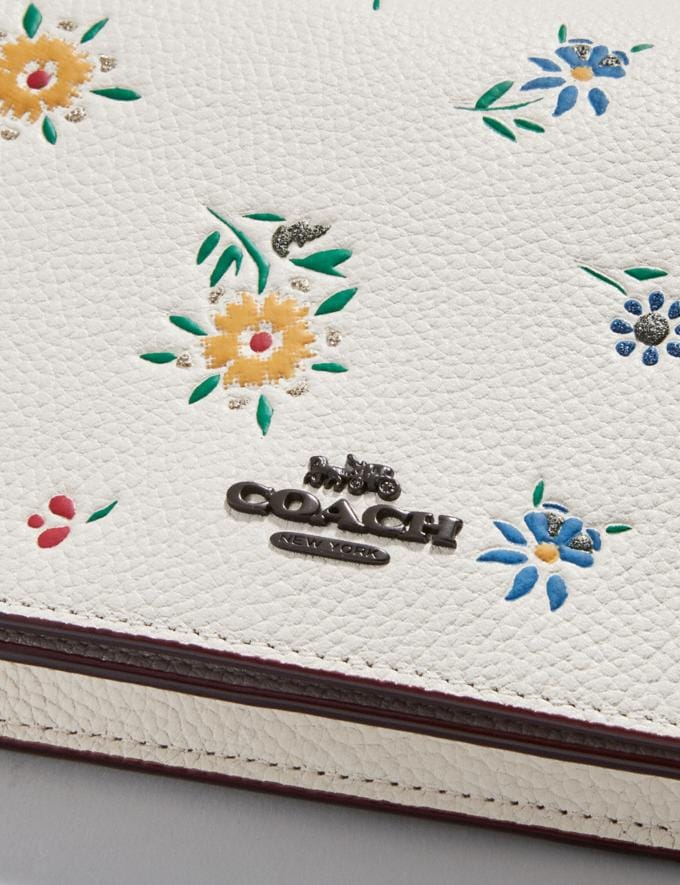 Coach Hayden Foldover Crossbody With Wildflower Print Pewter/Chalk SALE Women's Sale New to Sale Alternate View 4