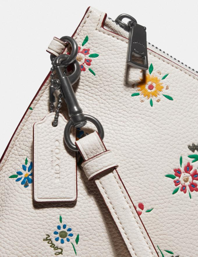 Coach Charlie Pouch With Wildflower Print Pewter/Chalk SALE Women's Sale Wallets & Wristlets Alternate View 3