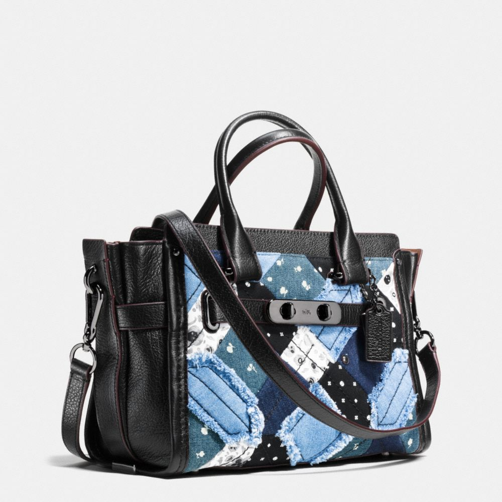 Coach Swagger 27 in Canyon Quilt Denim - Autres affichages A2