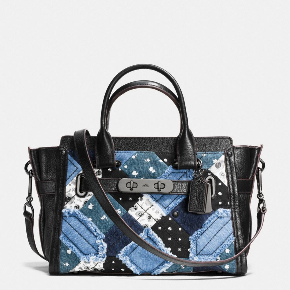 COACH SWAGGER 27 IN CANYON QUILT DENIM