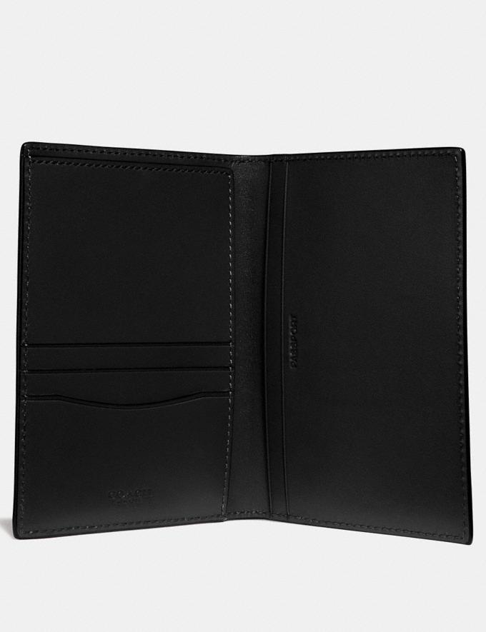 Coach Passport Case Black New Men's Trends Modern Travel Alternate View 1
