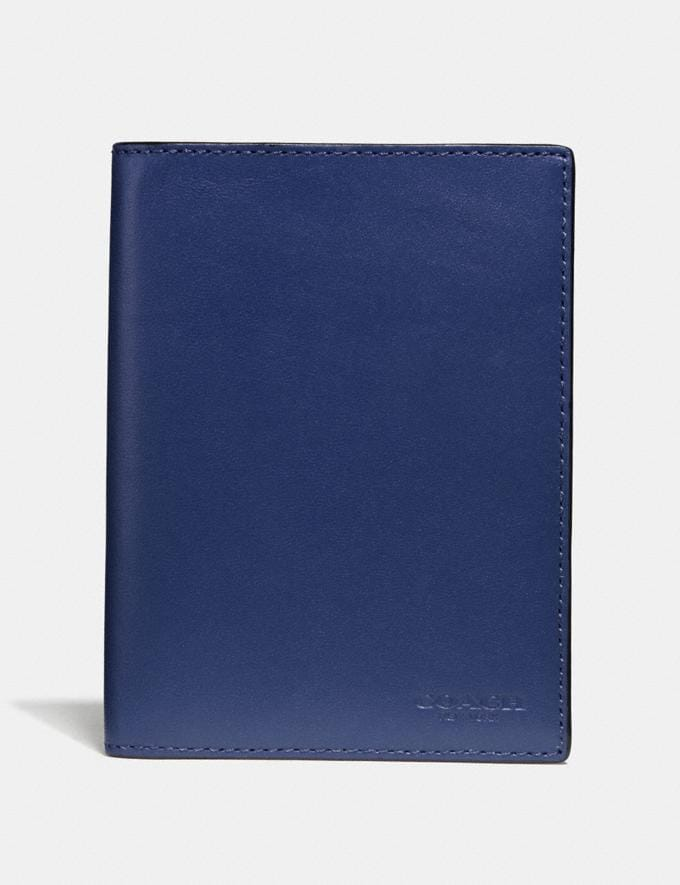 Coach Passport Case Cadet New Men's Trends Modern Travel