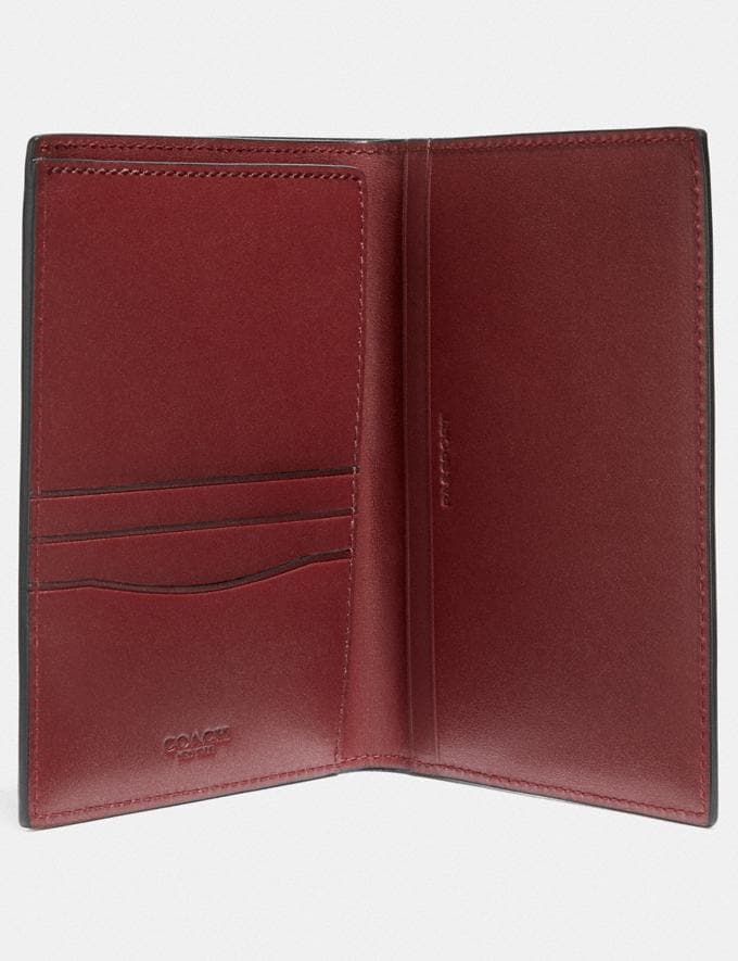 Coach Passport Case Red Currant Gifts For Him Bestsellers Alternate View 1