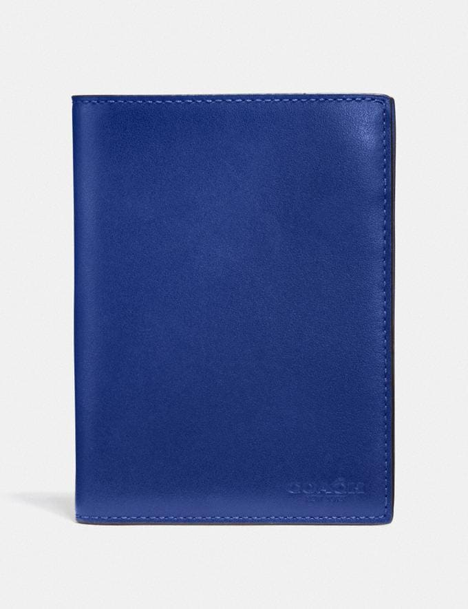 Coach Passport Case Sport Blue Men Edits Travel