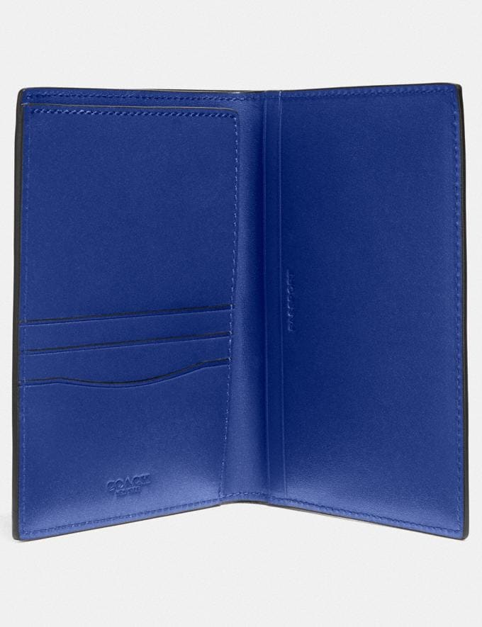 Coach Passport Case Sport Blue Men Edits Travel Alternate View 1