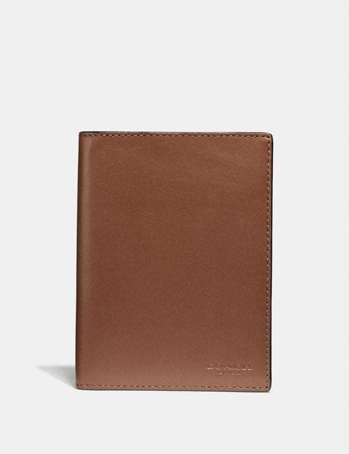 Coach Passport Case Saddle Men Edits Travel