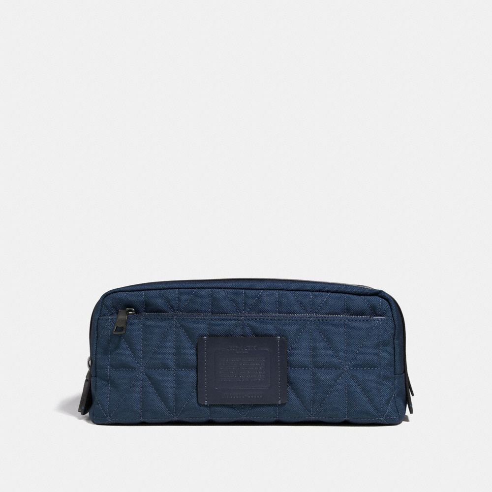 Coach Double Zip Dopp Kit With Quilting