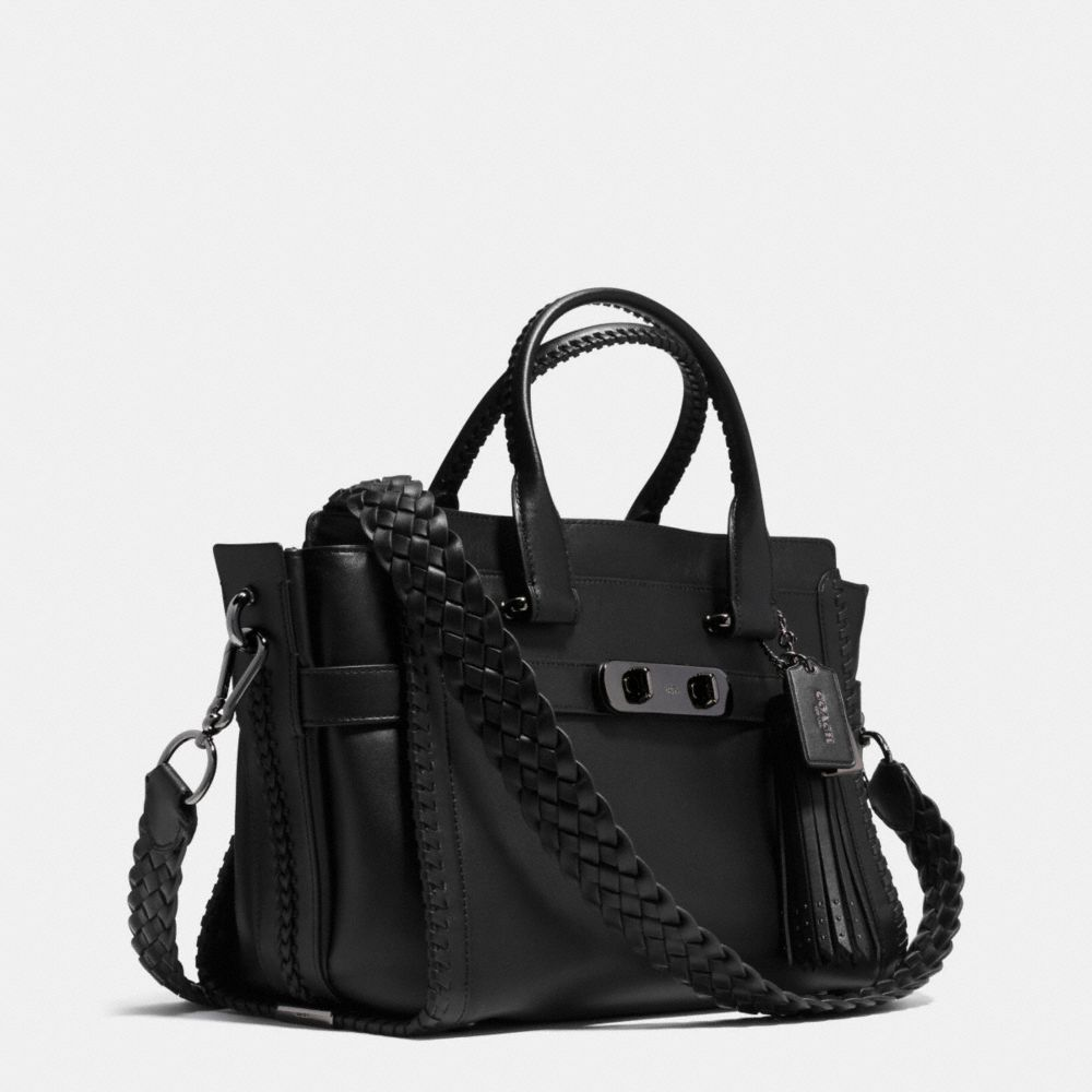 Coach Rip and Repair Coach Swagger Carryall in Glovetanned Leather Alternate View 2