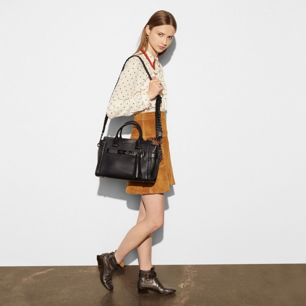 Coach Rip and Repair Coach Swagger Carryall in Glovetanned Leather Alternate View 4