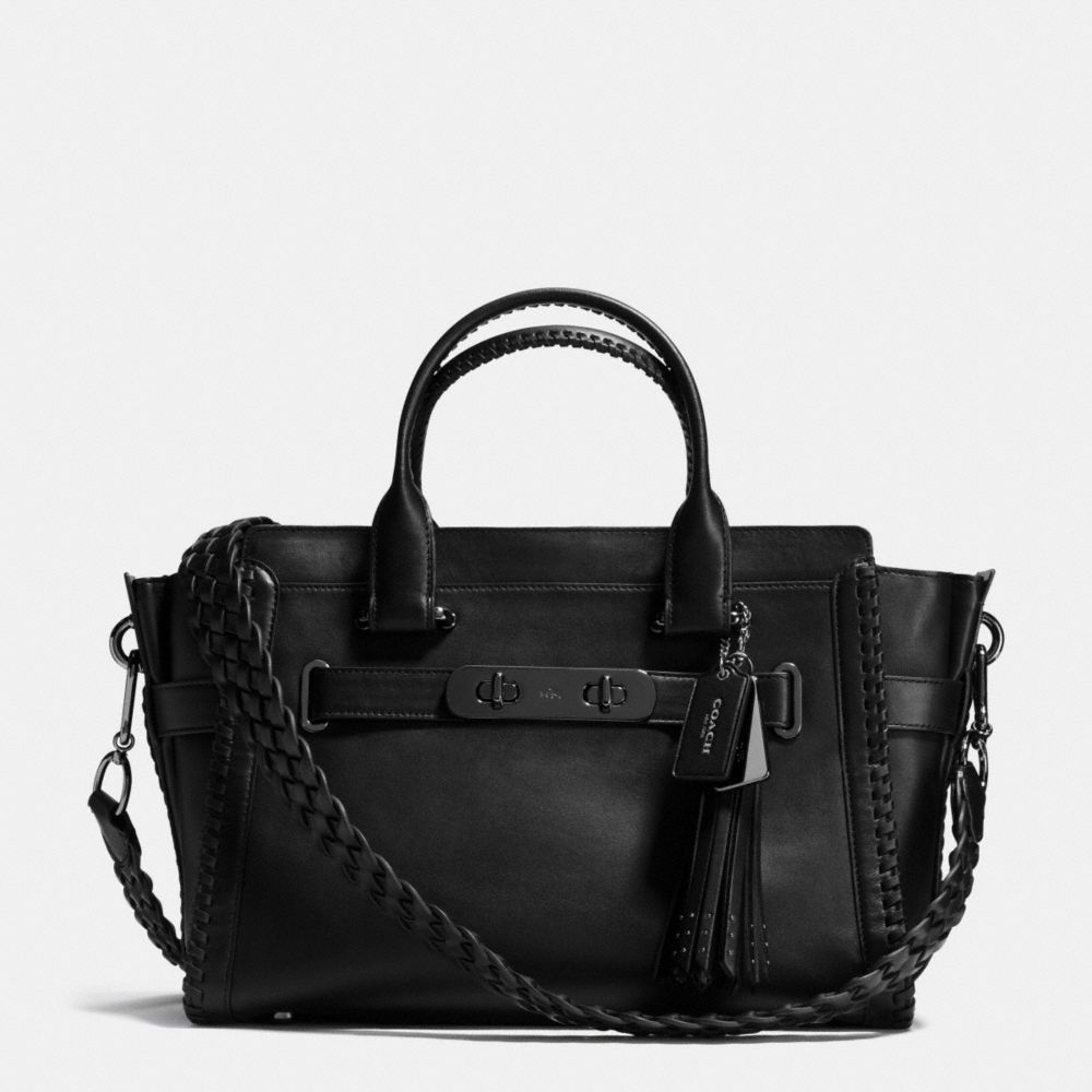 Rip and Repair Coach Swagger Carryall in Glovetanned Leather