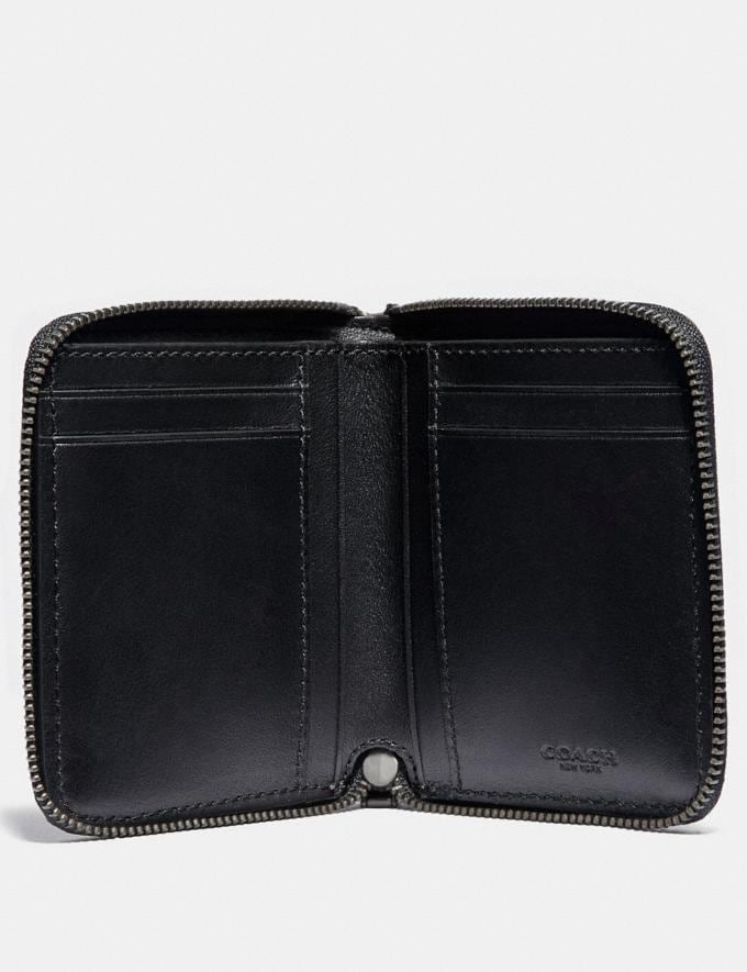 Coach Small Zip Around Wallet With Quilting Cadet/Black Women Wallets & Wristlets Small Wallets Alternate View 1