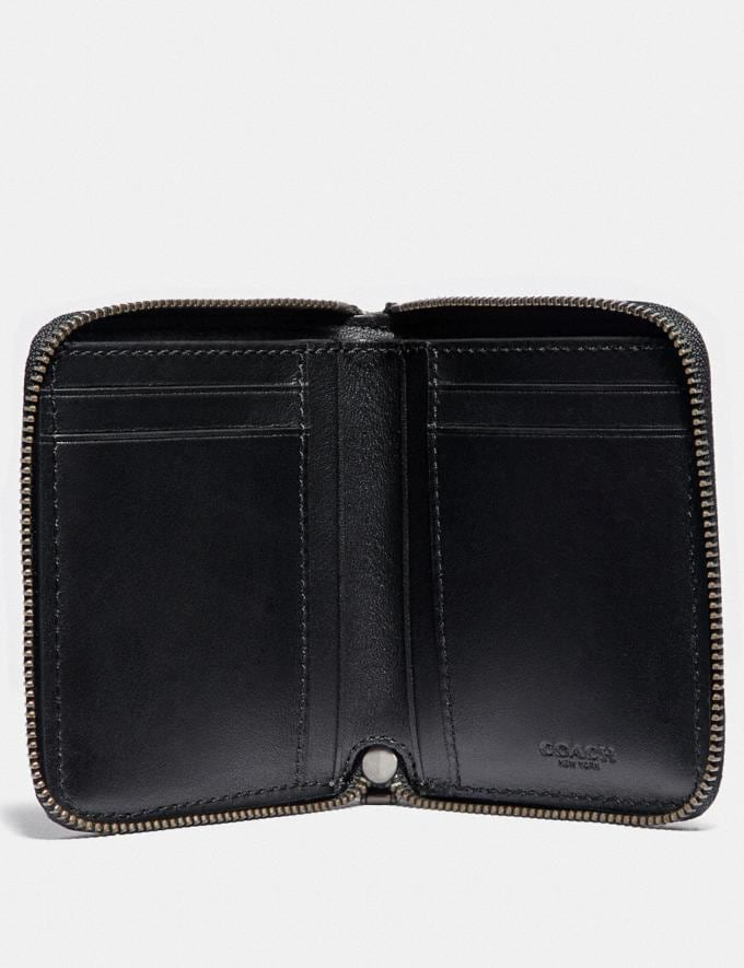 Coach Small Zip Around Wallet With Quilting Glade/Black Men Wallets Card Cases Alternate View 1