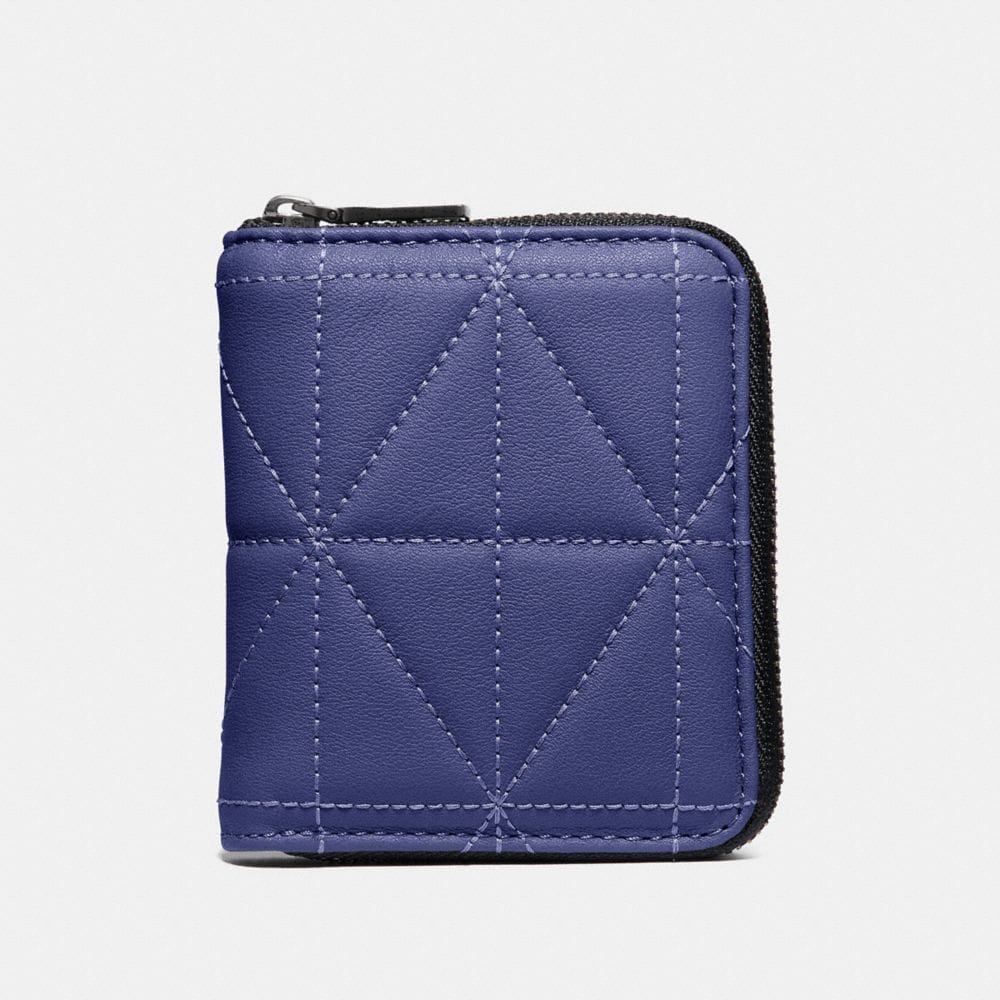 SMALL ZIP AROUND WALLET WITH QUILTING
