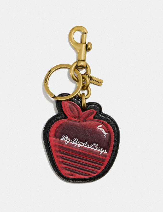 Coach Big Apple Camp Bag Charm B4/Red Apple Black Damen Accessoires Anhänger