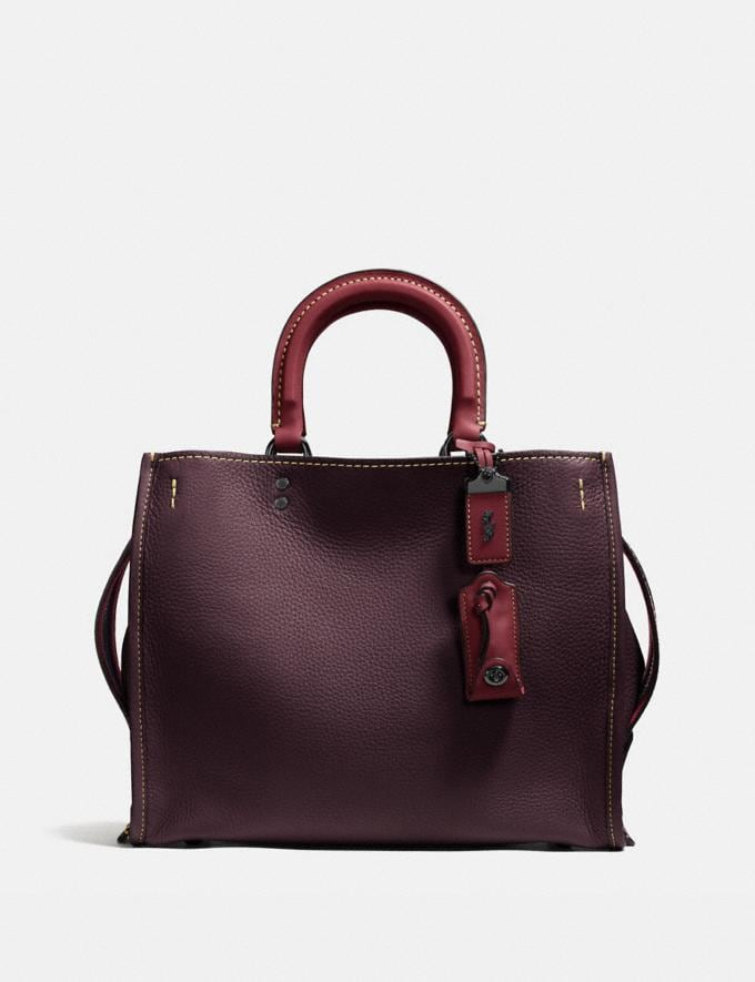 Coach Rogue Oxblood/Black Copper Bags