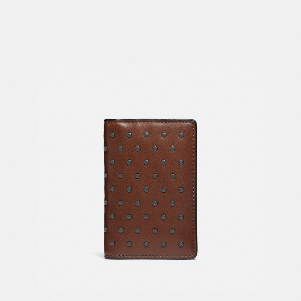 Coach Card Wallet With Rivets