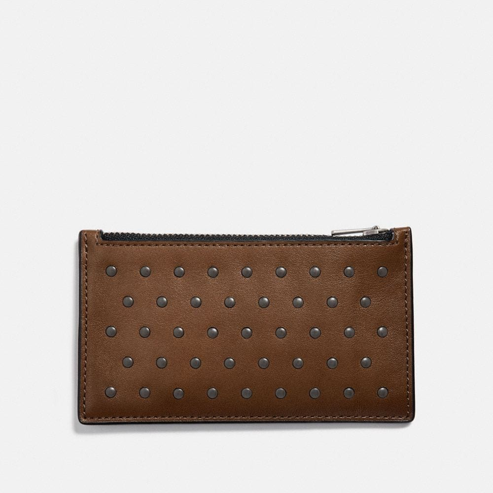 Coach Zip Card Case With Rivets