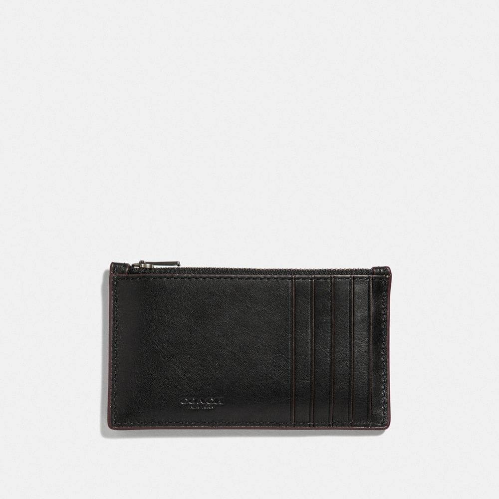 Coach Zip Card Case With Rivets Alternate View 1