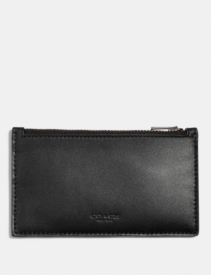Coach Zip Card Case Black