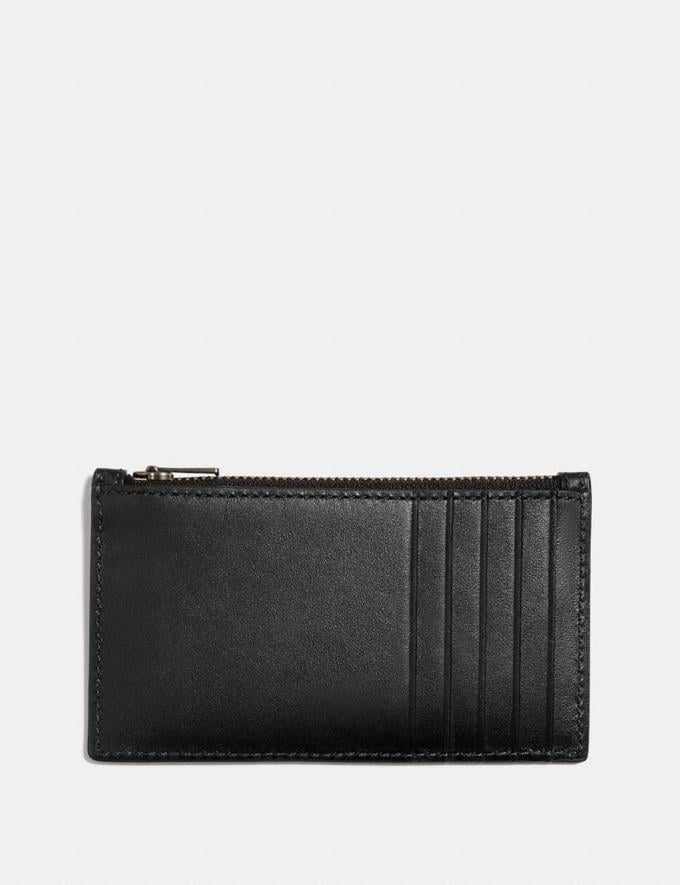 Coach Zip Card Case Black  Alternate View 1