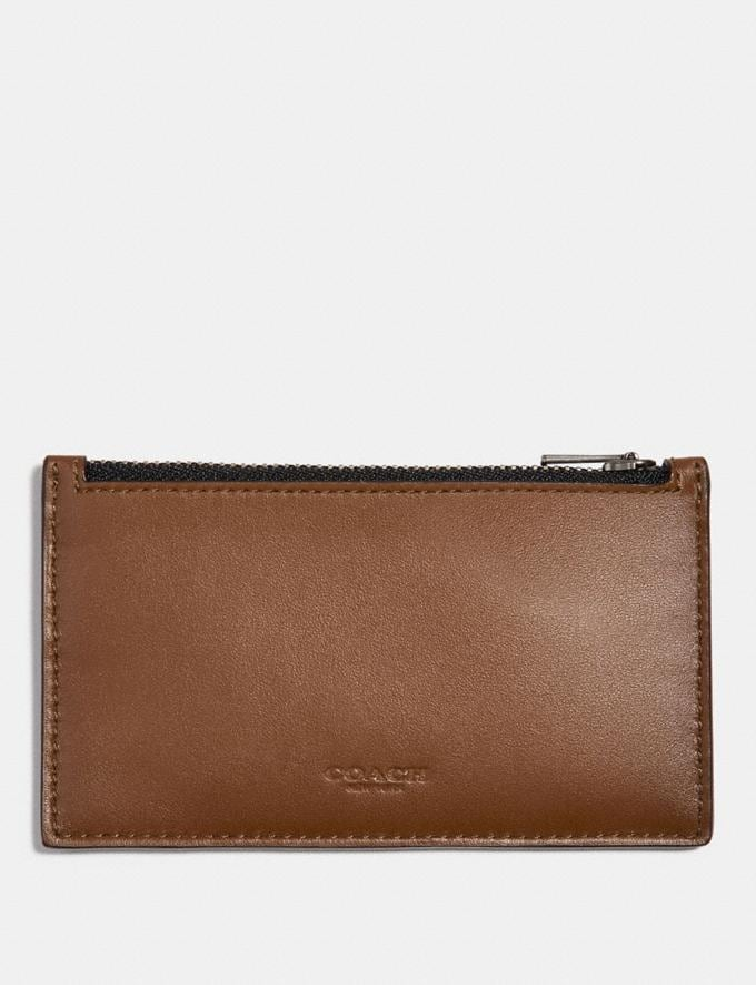 Coach Zip Card Case Saddle Men Edits Travel